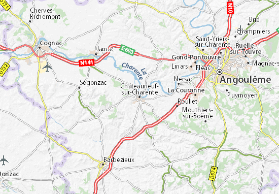 Carte-Plan Châteauneuf-sur-Charente