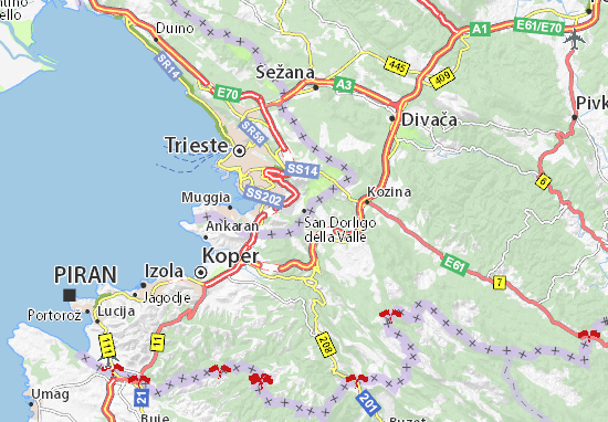 Carte-Plan San Dorligo della Valle