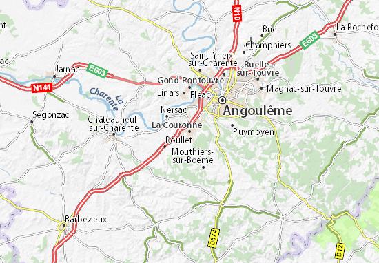 La Couronne Map