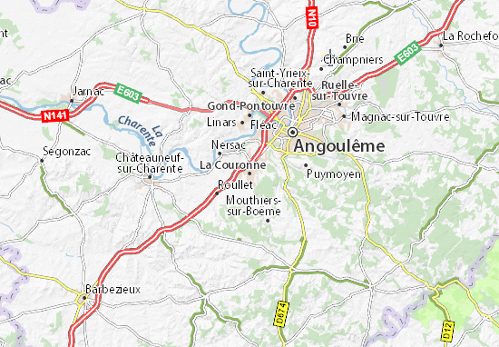 Mapa Plano La Couronne