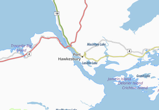 Carte-Plan Port Hawkesbury