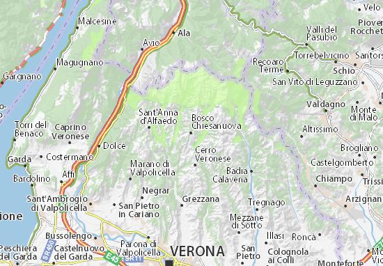 Kaart Plattegrond Bosco Chiesanuova