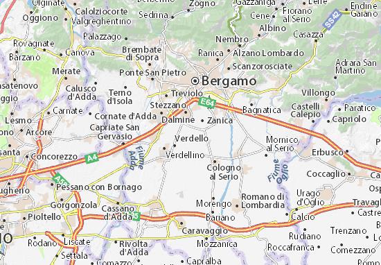 Karte Stadtplan Comun Nuovo