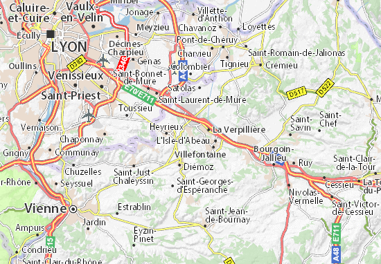 Carte-Plan Saint-Quentin-Fallavier