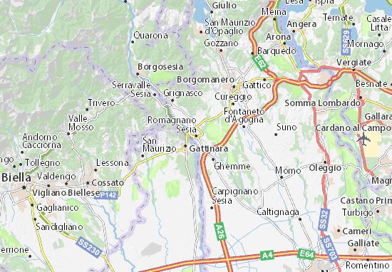 Mappe-Piantine Romagnano Sesia
