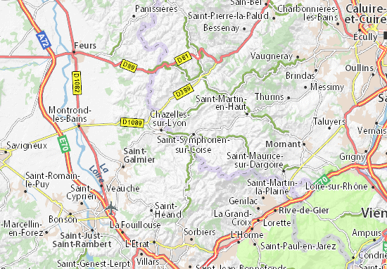 Carte-Plan Saint-Symphorien-sur-Coise
