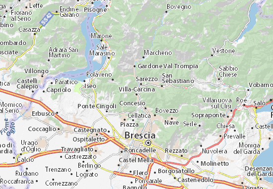 Carte-Plan Villa-Carcina