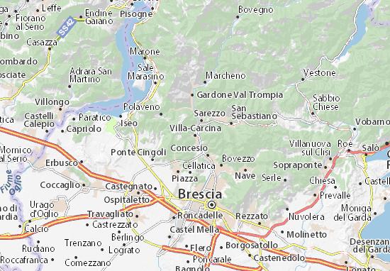 Villa-Carcina Map