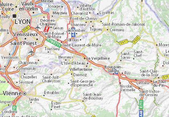 La Verpillière Map