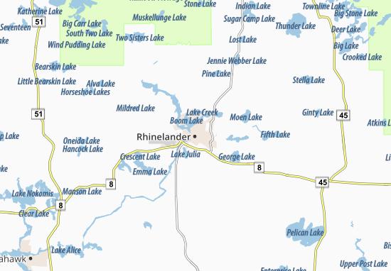 Rhinelander Map