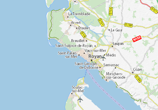 Kaart Plattegrond Saint-Palais-sur-Mer