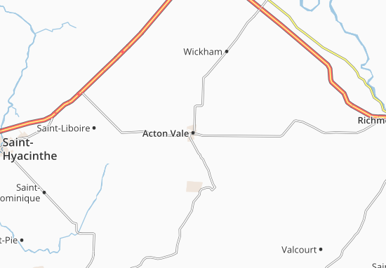 Acton Vale Map