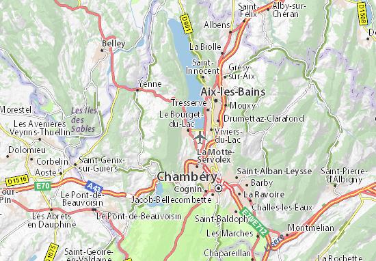 Mapa Plano Le Bourget-du-Lac