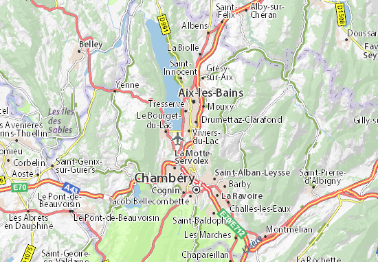 Carte-Plan Viviers-du-Lac