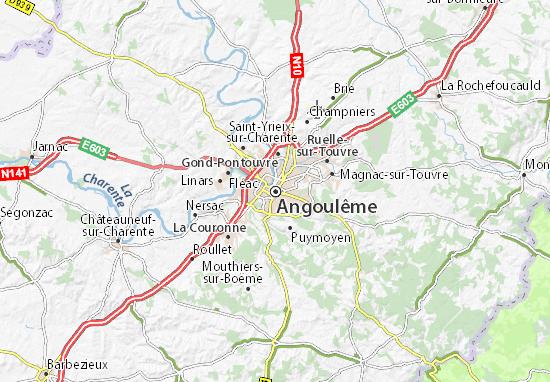 Carte-Plan Angoulême