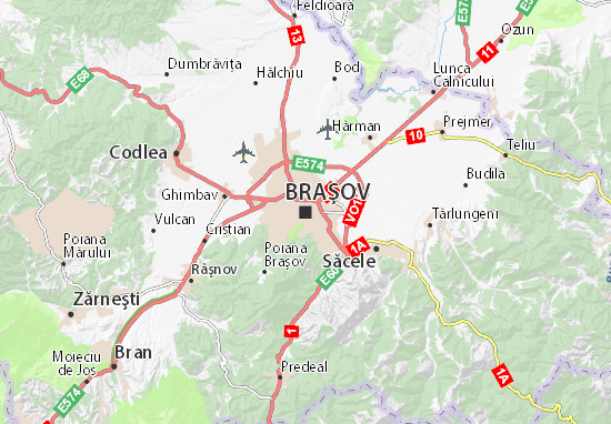 Mapa Plano Braşov