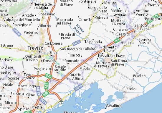 Cartina Veneto Michelin.Michelin Monastier Di Treviso Map Viamichelin