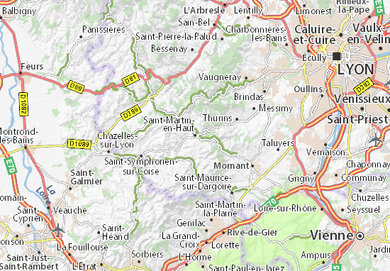 Saint-Martin-en-Haut Map