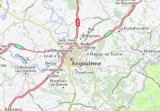 Mapa Plano L'Isle-d'Espagnac