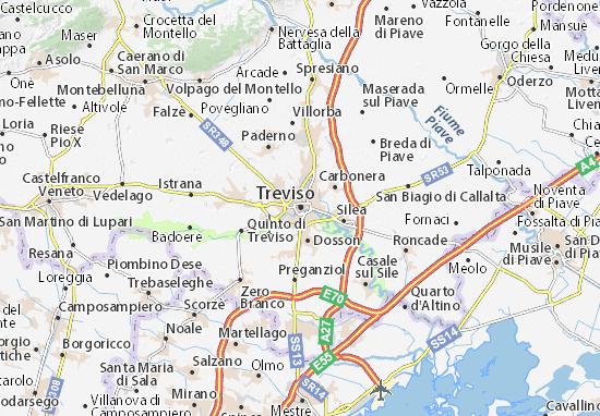 Kaart Plattegrond Treviso
