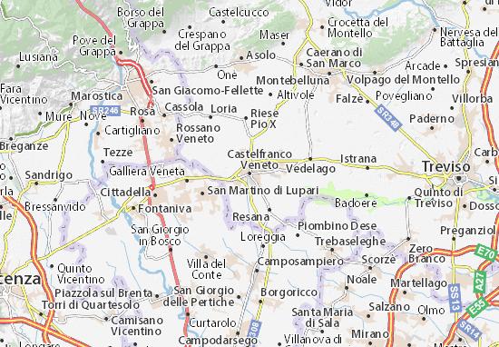 Kaart Plattegrond Castelfranco Veneto