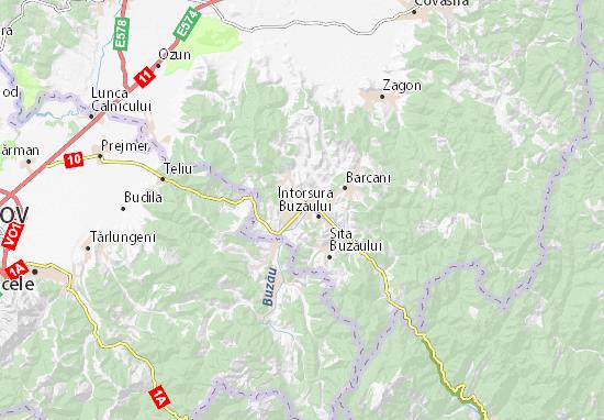 Kaart Plattegrond Întorsura Buzăului