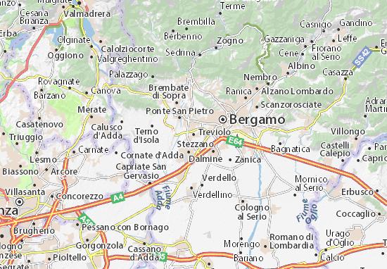 Karte Stadtplan Treviolo