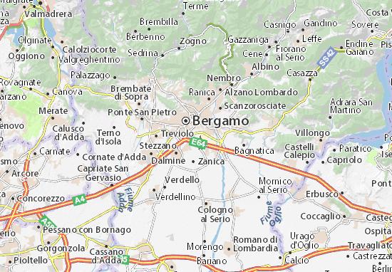 Orio al serio map detailed maps for the city of orio al - Giardinia orio al serio ...