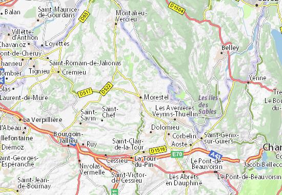 Mapa Plano Morestel
