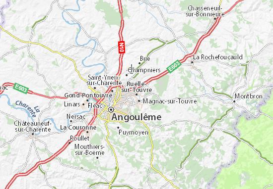Mapa Plano Ruelle-sur-Touvre