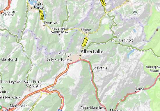 Kaart Plattegrond Albertville