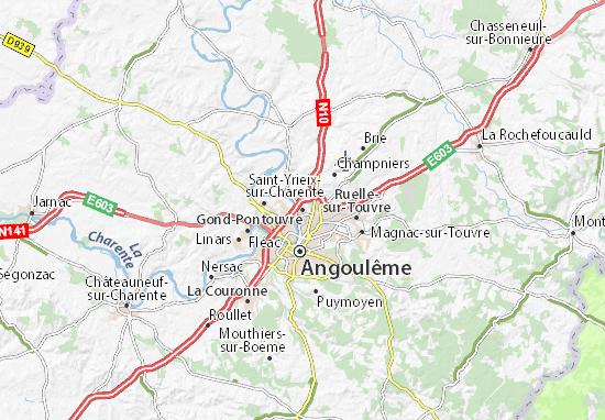 Mapa Plano Gond-Pontouvre