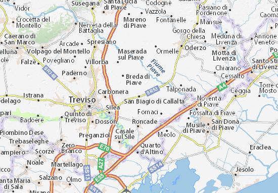 San Biagio di Callalta Map