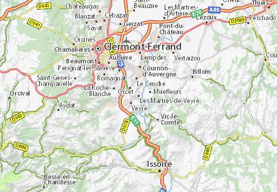 Mappe-Piantine Les Martres-de-Veyre
