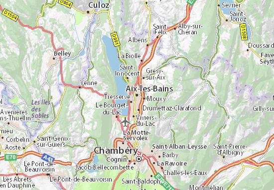Map of aix les bains michelin aix les bains map for Aix les bains