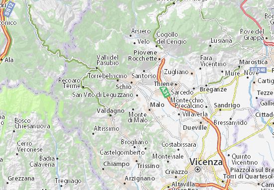San Vito di Leguzzano Map