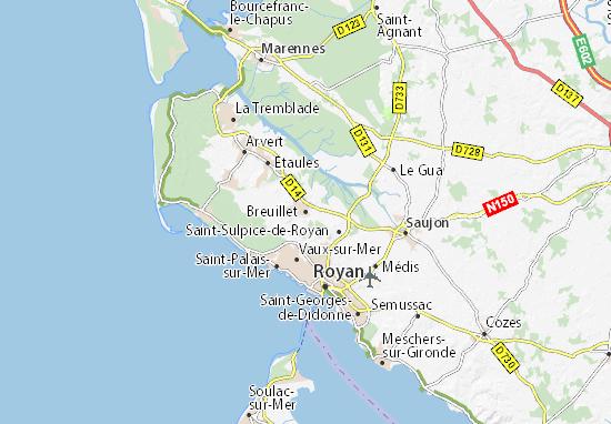 Breuillet Map