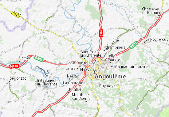 Mapa Plano Saint-Yrieix-sur-Charente