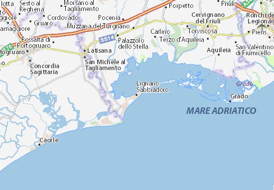 Mappe-Piantine Lignano Sabbiadoro