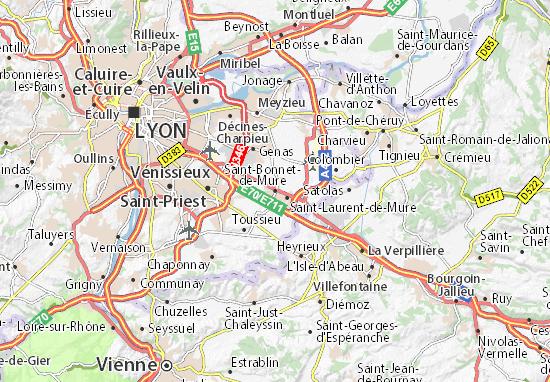 Mappe-Piantine Saint-Bonnet-de-Mure