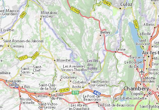 Mapa Plano Groslée-Saint-Benoit