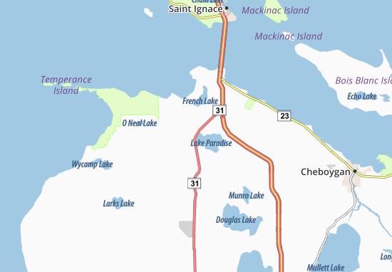 Carp Lake Map