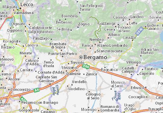 Carte Italie Bergamo.Bergamo Map Detailed Maps For The City Of Bergamo Viamichelin