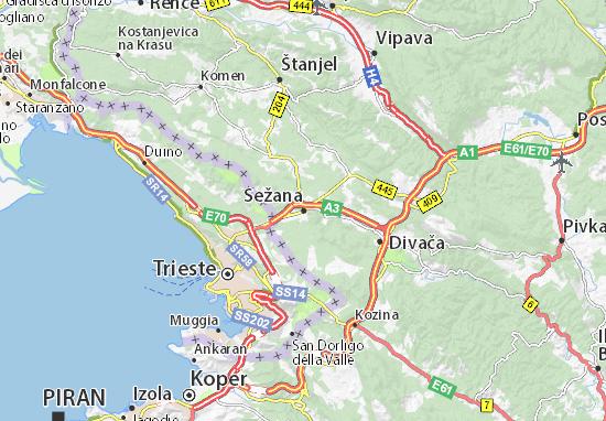 Sežana Map