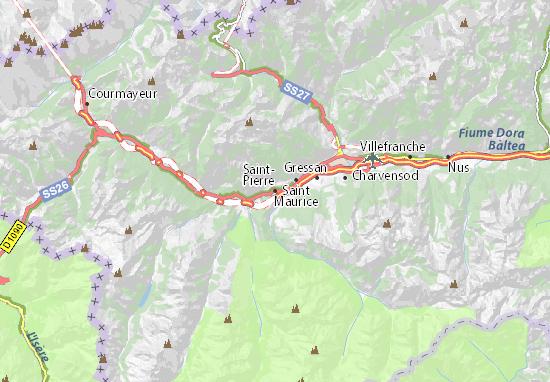 Karte Stadtplan Saint-Pierre
