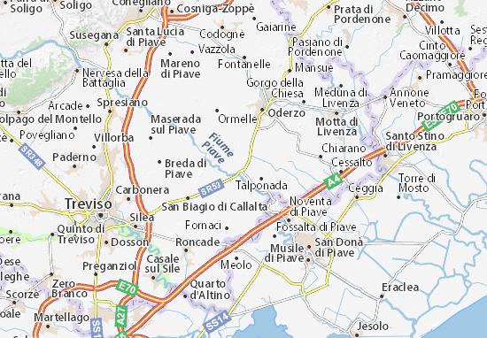 Mapa Plano Ponte di Piave