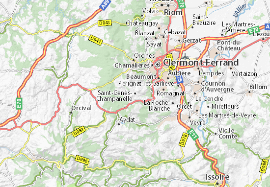 Mapa Plano Saint-Genès-Champanelle