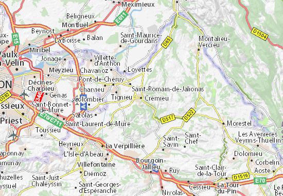 Kaart Plattegrond Crémieu