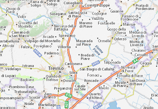 Carte-Plan Breda di Piave