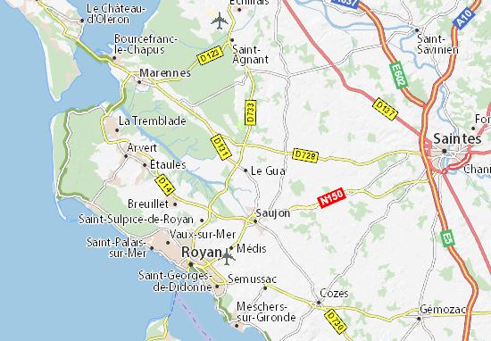 Mapa Plano Le Gua